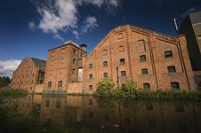Free Canalside Factory Royalty Free Stock Photography - 16860767
