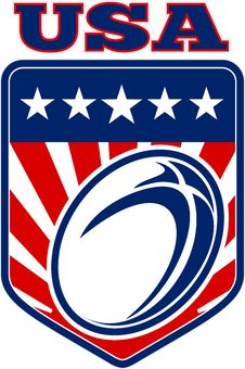 Free Rugby Ball American Usa Stock Photos - 16860883