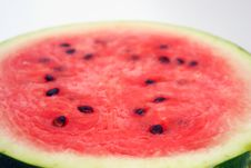 Watermelon With Dry Stem Stock Images