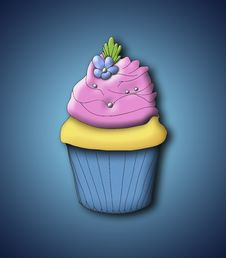 Free Cupcake Illustration Stock Images - 16861164