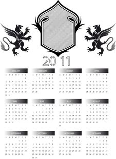 Free Calendar 2011 Royalty Free Stock Images - 16861289