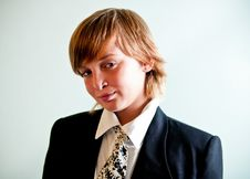 Free Boy Wearing Suit . Royalty Free Stock Photo - 16861595