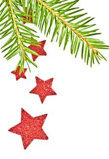 Free Fir Branch With The Star. Stock Photography - 16861832