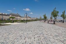 Quai De La Douane At Bordeaux, France Stock Photography