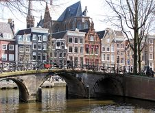 Free Bridge And House Architecture In Amsterdam Stock Image - 16862011