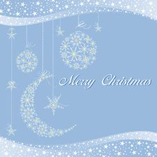 Free Merry Christmas Greeting Card Royalty Free Stock Images - 16862259