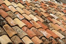 Free Covering Of A Roof Making Interesting Pattern Royalty Free Stock Photography - 16863217