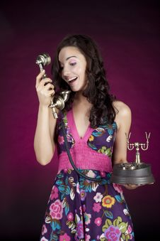Free Girl Talking On The  Phone Royalty Free Stock Photos - 16863618