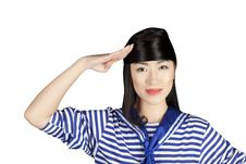 Free Chinese Girl Sailor Royalty Free Stock Images - 16863619