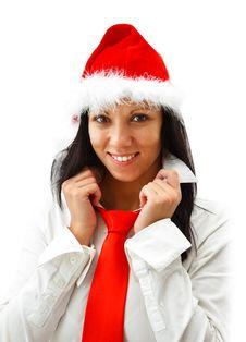 Free Christmas Woman Royalty Free Stock Photos - 16863678