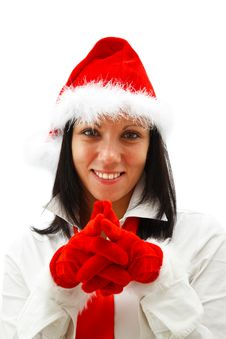 Free Christmas Woman Royalty Free Stock Images - 16863699