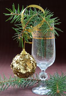 Christmas Tree With Christmas Decorations Royalty Free Stock Photo
