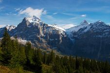 Free Jungfraw Massive, Swiss Alps Royalty Free Stock Image - 16864156