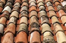 Free Covering Of A Roof Making Interesting Pattern Stock Images - 16864514