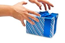 Free Hands And Gift Box Royalty Free Stock Photography - 16864637