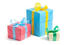 Free Color Gift Boxes Royalty Free Stock Images - 16865109