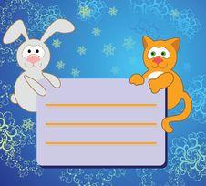 Rabbit And Cat Stock Image