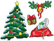 Free Set Of Christmas Icons Stock Photo - 16865370