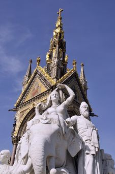 Free Albert Memorial, London With Statue Stock Image - 16865841