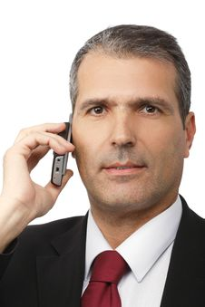 Free Businessman Calling On Mobile Phone Stock Photo - 16866270