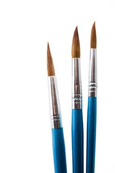 Paintbrushes Isolated Royalty Free Stock Photo