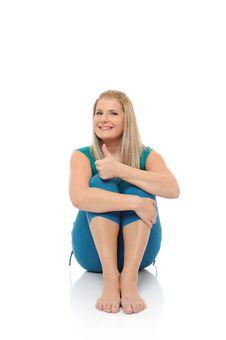 Free Beautiful Happy Woman Doing Fitness Stock Photos - 16867463