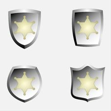 Free Police Badge Emblems Stock Images - 16867574