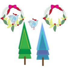 Free Christmas Set Stock Image - 16867851