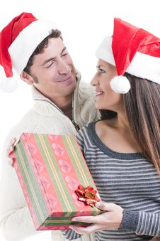 Free Christmas Couple Stock Images - 16868244