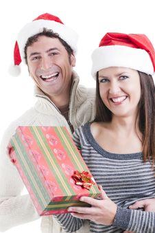 Free Christmas Couple Stock Photo - 16868320