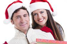 Free Christmas Couple Royalty Free Stock Image - 16868476