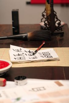 Calligraphy Lesson Stock Image