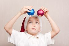 Free Boy In Red Christmas Hat Stock Photo - 16869420
