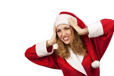 Free Surprised Santa Claus Royalty Free Stock Image - 16869866