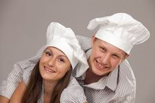 Free Young Loving Couple Cooks. Stock Photo - 16869890