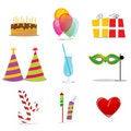 Free Birthday Icons Stock Images - 16870564