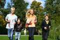 Free Happy Family Have Fun In Park Royalty Free Stock Image - 16873466