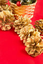 Free Christmas Fir-cones With A Gilt Stock Images - 16875014