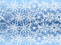 Free White Snowflakes On Blue Background Stock Photography - 16875092