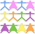 Free People Paper Friend Chain In White Background Stock Photography - 16878732