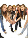 Free Girls Are Happy In The School Stock Images - 16879844