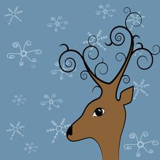 Xmas Deer Royalty Free Stock Image