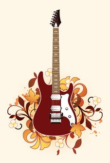 Abstract With Guitar Stock Photo