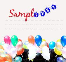 Free Colorful Party Balloons Background Royalty Free Stock Images - 16870899