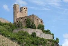 Castle On Hilltop Royalty Free Stock Image