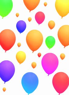 Free Colorful Party Balloons Background Stock Images - 16872104