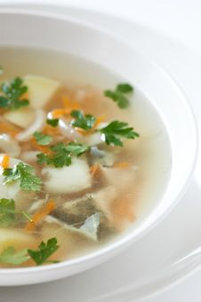 Free Fish Soup With Crackers Stock Image - 16872391