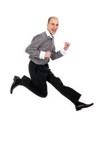 Free Businessman Jumping Royalty Free Stock Photo - 16872495