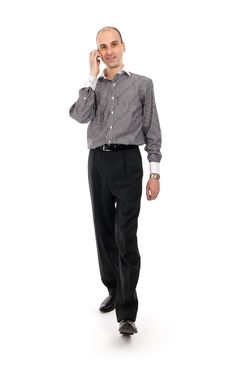 Free Businessman Talking On Mobile Phone Royalty Free Stock Photos - 16872898