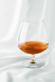 Free Cognac On Satin Royalty Free Stock Image - 16873786